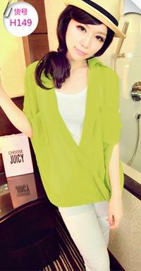 เสื้อแฟชั่นเกาหลี SET เบาสบาย ด้วยผ้าชีฟอง ต้อนรับกับช่วง summer H149