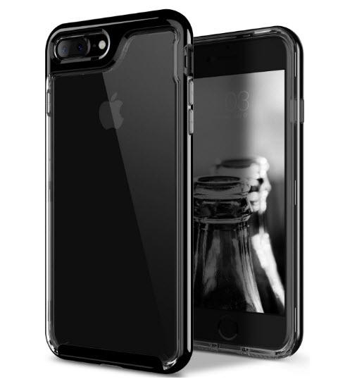 เคสไอโฟน 7 (TPU + PC ) ขอบสีดำ หลังใส