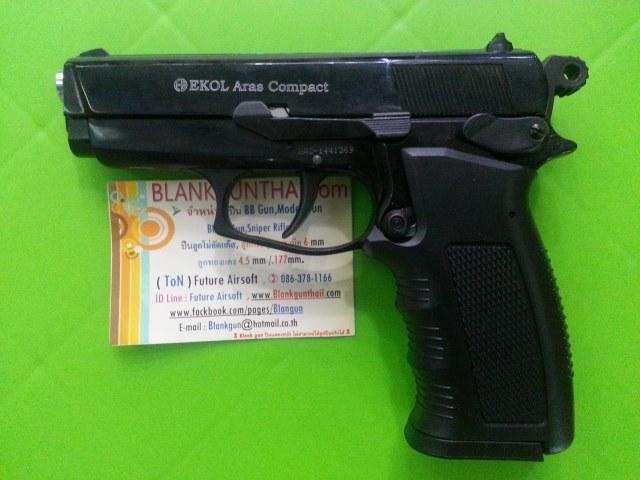 Ekol Browing (Ares Compact) Black Front Firing 9mm.PAK Blank Gun