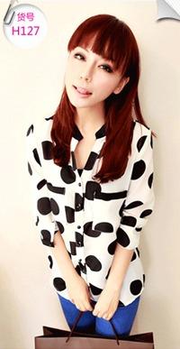 เสื้อแฟชั่นเกาหลี SET เบาสบาย ด้วยผ้าชีฟอง ต้อนรับกับช่วง summer H127