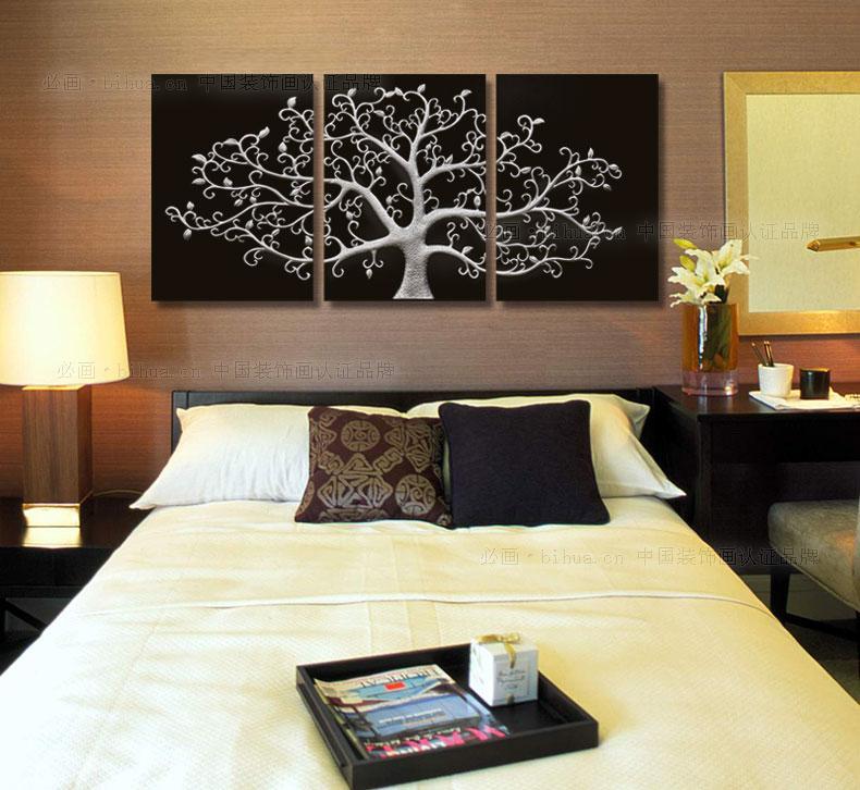 ภาพกรอบลอยต้นไม้สีเงิน arthome65