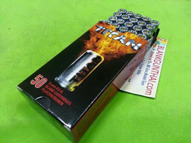 Blank Cartridges Titan/Umarex 9 mm.PAK 50 Pcs.