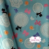 ผ้าคอตตอนญี่ปุ่น 100% 1/4ม.(50x55ซม.) โทนสีฟ้า