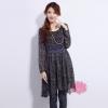 เดรสแฟชั่นเกาหลี ทรงแขนยาว เผาสบายด้วยเนื้อผ้าชีฟอง สวยหวานแบบสาวแรกรุ่น