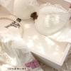 Pre Order ชุดชั้นในสีขาว ตัดเย็บกับลูกไม้ลายสวย ตกแต่งกับโบว์สีน้ำตาล เริ่ดสุดๆ