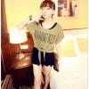 เสื้อยืดแฟชั่นเกาหลี ต้อนรับลมทะเลด้วยเสื้อผูกเอว สวมใส่สบายรับลมเย็นๆ