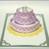A28 การ์ดป๊อปอัพ Special Cake ชมพู 3