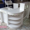 เคานเตอร์วินเทจ 3 ส่วน สีขาว วินเทจ กุหลาบ เจ้าหญิง สำหรับบ้าน ร้านค้า