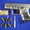 FS Glock 27 / G27 Chrome Model Gun (Full Metal) cap Toy