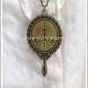 สร้อยคอโกธิคโลลิต้า จี้กระจกลายโคมระย้า สีทองโบราณ Chandelier Mirror Gothic Lolita Necklace