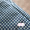 ผ้าคอตตอนไทย 100% 1/4 ม.(50x55ซม.) ลายตารางสีน้ำเงิน