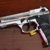 Ekol Beretta 92F (Firat Magnum)Chrome Front Firing 9 mm.PAK Blank Gun Gen.1