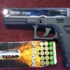 Retay G19 Nickel Front Firing 9mm.PAK. Blank gun