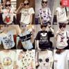 เสื้อยืดแฟชั่นสำหรับสาวๆ ผ้านิ่ม มีลายให้เลือกมากมาย และหลายขนาด SET4