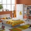 ชุดห้องนอนขาวตัดส้ม