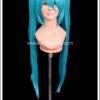วิกผมคอสเพลย์ ทวินเทลสีฟ้า แบบจุกต่อสองข้าง Light Blue Twintails Cosplay Wig