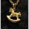 สร้อยคอโลลิต้า จี้ม้าโยก สีทอง Lolita Necklace