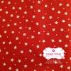 ผ้าคอตตอนไทย 100% 1/4 ม.(50x55ซม.) พื้นสีแดง ลายดาวเล็ก
