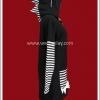 เดรสแจ๊คเก็ตพังค์ มีฮู้ดหัวก็อตซิลล่า Punk Long-Sleeved Jacket Dress สีขาวดำ
