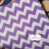 ผ้าคอตตอนไทย 100% 1/4 ม.(50x55ซม.) ลายทางหยักโทนสีขาวม่วง กว้าง1ซม.