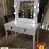 โต๊ะเครื่องเเป้งขนาดเล็ก วินเทจ สีขาว สำหรับบ้านเเละร้านค้า