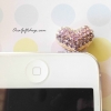จุกปิดกันฝ่น Iphone รูปหัวใจสีม่วง