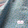 ผ้าคอตตอน 100% 1/4 ม.(50x55ซม.) ลายดอกไม้เล็กๆ โทนสีฟ้า