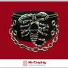 สร้อยข้อมือพังค์ Punk Wristband ตอกหมุดเงิน ประดับด้วยแมงป่อง และสายโซ่