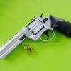 "Zoraki R1 4.5"" Nickel Front Firing .380K Blank Gun"