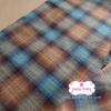 ผ้าทอญี่ปุ่น 1/4ม.(50x55ซม.) โทนสีน้ำตาลตัดสีฟ้า