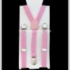 สายเอี๊ยม สำหรับเด็ก สีชมพู ลายจุด Pink Polka Dots Suspenders for Kids
