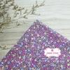 ผ้าคอตตอนไทย 100% 1/4 ม.(50x55ซม.) พื้นสีม่วง ลายดอกไม้เล็ก