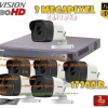 ชุดติดตั้งกล้องวงจรปิด DS-2CE16F7T-IT (3ล้าน) ir20เมตร ,6ตัว (dvr8ch., สาย rg6มีไฟ 150เมตร, hdd.2TB)