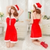 xm012 ชุดแซนตี้ ชุดซานต้าสาว แบบแซก สายเดี่ยว พร้อมหมวก น่ารักคะ