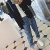 กางเกงยีนส์แฟชั่น แนวอาร์ทๆ สำหรับสาวอยากเปลี่ยนเป็นลุคเซอร์ๆ