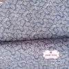 ผ้าคอตตอนไทย 100% 1/4 ม.(50x55ซม.) โทนสีฟ้า ลายใบมะขาม
