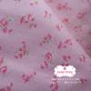 ผ้าคอตตอนไทย 100% 1/4 ม.(50x55ซม.) พื้นสีชมพูอ่อน ลายดอกไม้เล็กสีชมพู