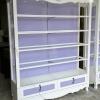 ตู้โชว์สินค้า วินเทจ สีขาว สำหรับบ้าน ร้านค้า