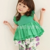 เสื้อผ้าเด็กขายส่งยกแพ็ค เสื้อเด็กน่ารัก สีเขียว แพ็ค 5 ตัว ไซด์ 7-15