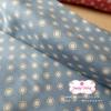 ผ้าคอตตอนไทย 100% 1/4ม.(50x55ซม.) พื้นสีฟ้า ลายจุด