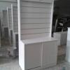 ตู้โชว์ระแนงไม้วินเทจสำหรับร้านค้า