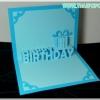 A09 การ์ดป๊อปอัพ Happy BirthDay สีฟ้า