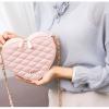 กระเป๋าถือแฟชั่นทรงรูปหัวใจ ขนาดเล็กกำลังดี สีหวานๆ ตามสไตล์วัยรุ่น