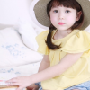 เสื้อผ้าเด็กขายส่งยกแพ็ค เสื้อเด็กแขนระบาย สีเหลือง แพ็ค 5 ตัว ไซด์ 5-13