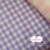 ผ้าคอตตอนลินิน 1/4ม.(50x55ซม.) สีม่วง ลายตาราง