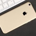 ฟิล์มหลังเครื่อง Iphone 6/6s (สีทอง)