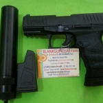 Umarex Walther PPQ + Sliencer (ท่อเก็บเสียง), cal.9mm.PAK Blank Gun**แถมลูกกระสุน 25 นัดฟรี**