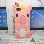 เคสไอโฟน 5/5s/SE (Case Iphone 5/5s/SE) เคสซิลิโคน หมูน้อย สี Beige (ส้มอ่อน)