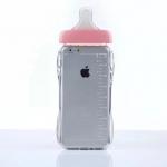 เคสไอโฟน 6 Plus / 6s Plus (TPU Case เคสนิ่ม) ขวดนมสีชมพู