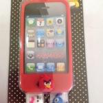เคสไอโฟน 4/4s (Case iphone 4/4s) เคสซิลิโคนสีแดง เปลี่ยนหัวได้ 3 หัว